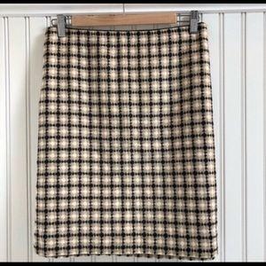 Loft Heathered Plaid Fitted Skirt